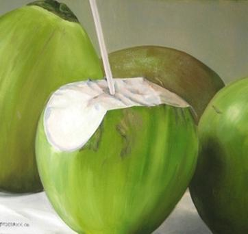 Coconut water is the clear liquid found in young, green coconuts