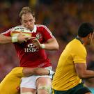 Alun Wyn Jones of the Lions is tackled
