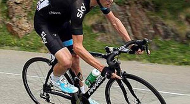 Chris Froome of Great Britain and Sky Procycling in action during stage eight of the 2013 Tour de France
