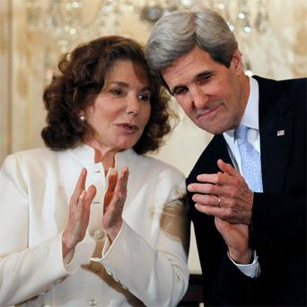 John Kerry with his wife Teresa Heinz-Kerry