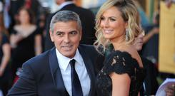 George Clooney and Stacy Keibler spent America's Independence Day apart