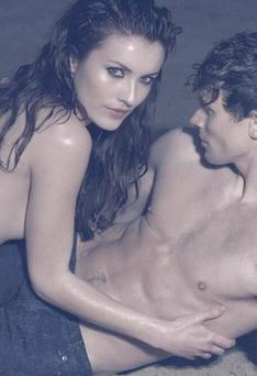 The former Miss Ireland had to pose with a male model in a steamy shoot on the reality show