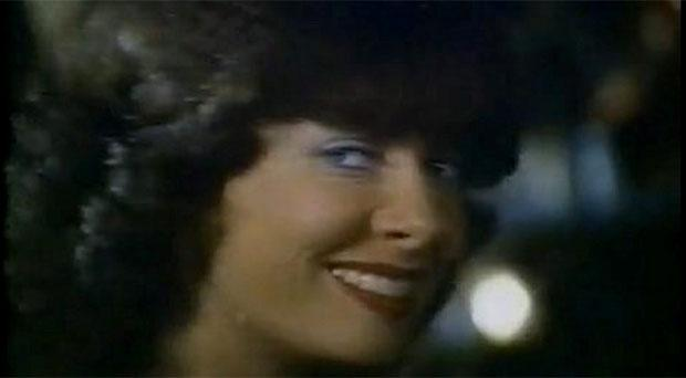 Vicki Michelle starring as Sally O'Brien in the famous Harp ad
