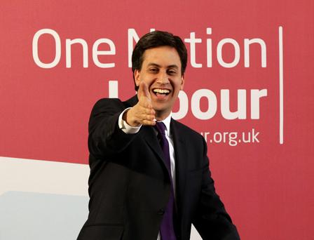 Labour leader Ed Miliband delivering a speech on One Nation Politics, at The St Bride Foundation in Fleet Street, London