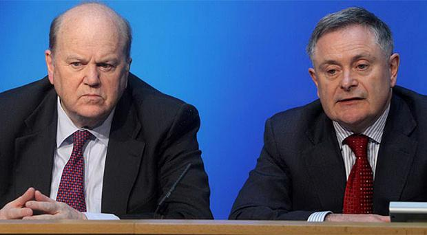 Finance Minister, Michael Noonan, and Brendan Howlin, Minister for Public Expenditure and Reform