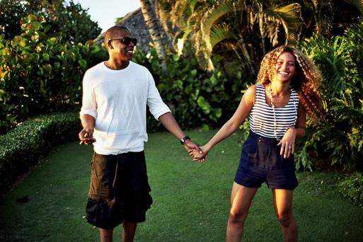 Beyonce often shares photos of her family life on Tumblr