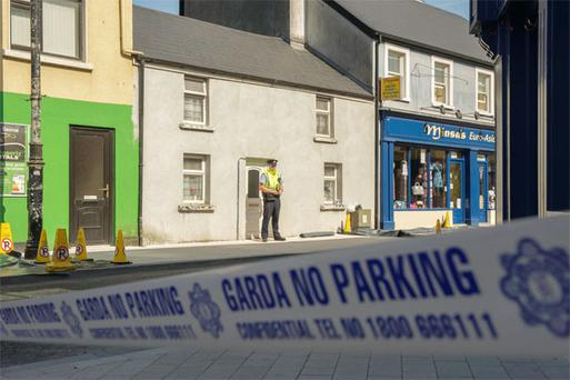 The scene of double killing of two brothers at New Antrim Street, Castlebar