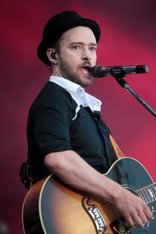 Justin Timberlake at the Phoenix Park