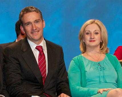 Fine Gael's Tom Barry and Aine Collins