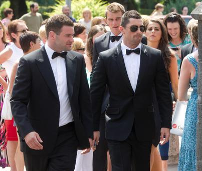 Fergus McFadden and Rob Kearney at the Sexton wedding in Adare
