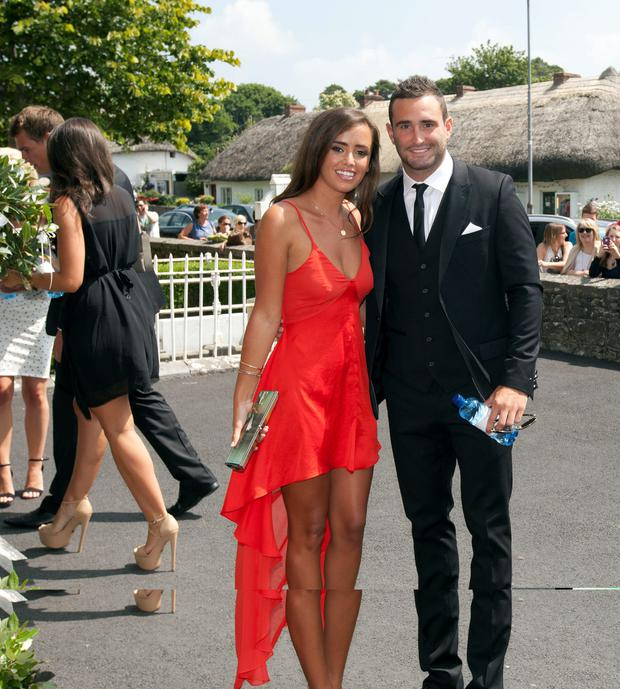 Hayley Ryan and Dave Kearney at Jonny Sexton's wedding last summer