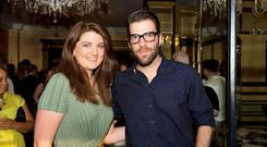 Actor and Producer Zachary Quinto better known for his role as Spock in the New Star Trek with Tg4's Loretta Ni Ghabhain at Hotel Meyrick for during the 25th Galway Film Fleadh