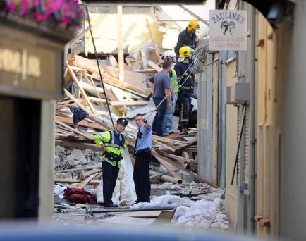 The scene at Brewery Lane, Killarney on Saturday morning following a gas explosion