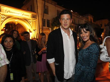 Monteith and Michele pose at a party following the premiere for the second season of the television series