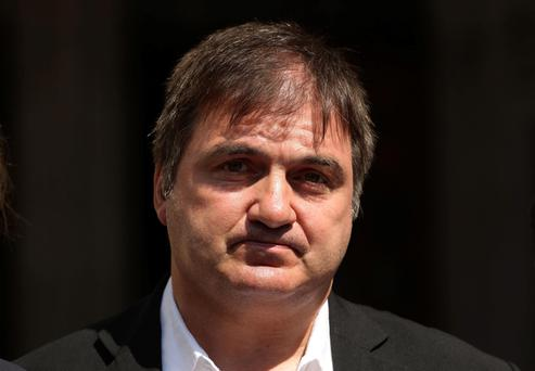 Barry George, who spent eight years in prison after being wrongly convicted of the murder of TV presenter Jill Dando, outside the Royal Courts of Justice
