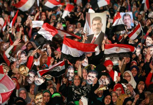 Members of the Muslim Brotherhood and supporters of deposed Egyptian President Mohamed Mursi.