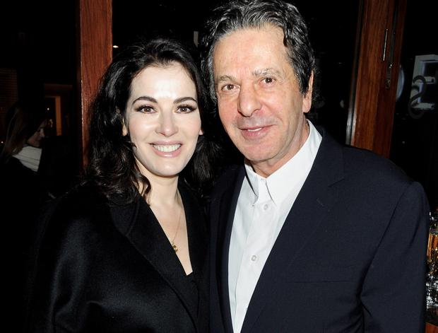 Nigella Lawson and Charles Saatchi attend a dinner in January 2012 Pic: Getty