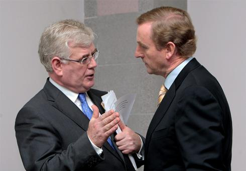 Eamon Gilmore and Enda Kenny