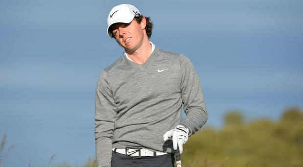 Northern Ireland's Rory McIlroy during practice at Muirfield today