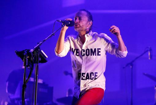 Singer Thom Yorke of the band