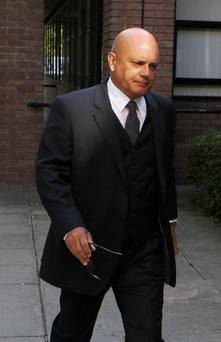 Former England and Chelsea player Ray Wilkins arriving at Staines Magistrates Court in Surrey
