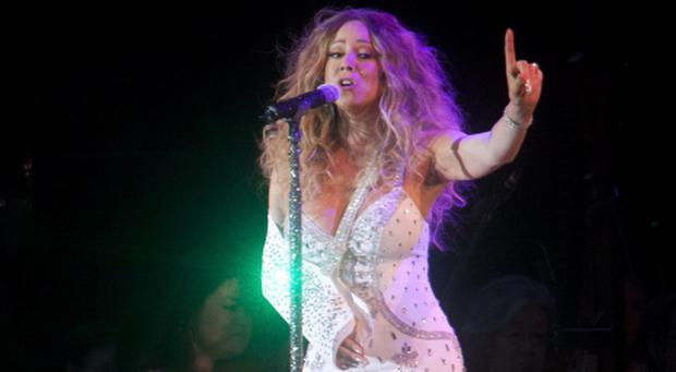 Mariah Carey first arrived on-stage wearing a bejewelled sling...