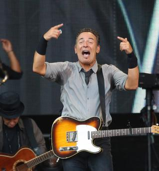 Bruce Springsteen performing in Thomond Park, Limerick with the E Street Band