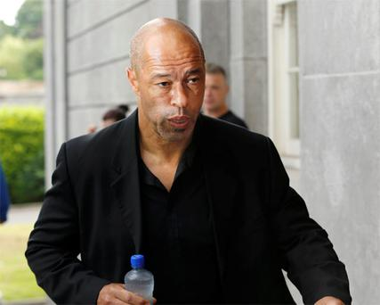 Former Irish International Footballer Paul McGrath pictured arriving at Tullamore District Court. Photo: Press22