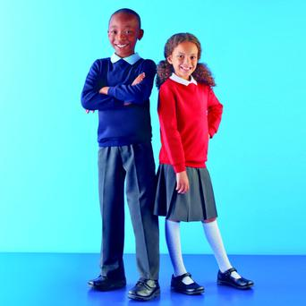 The back-to-school offer includes hard-wearing school trousers, polo shirts, jumpers and skirts for children aged between four and 11 years.