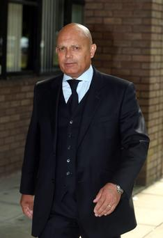 Ray Wilkins leaves Staines Magistrates court in Surrey during his drink drive trial