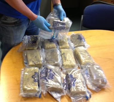 Garda have seized cocaine with an estimated street value of €500k