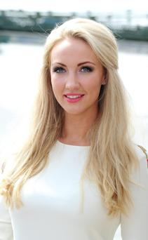 Leah Totton is unveiled as the winner of The Apprentice, in London.