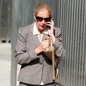 Garda Catherine McGowan arriving at Dublin District Court today. Photo: Collins