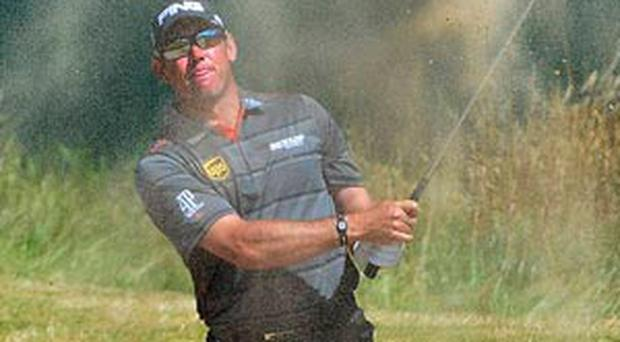 Lee Westwood had a good day on the greens at Muirfield yesterday