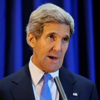 US Secretary of State John Kerry speaks during a news conference at Queen Alia International Airport in the Jordanian capital of Amman