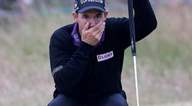 Padraig Harrington during day four of the 2013 Open Championship at Muirfield