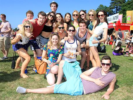 Fans enjoying the weather at the Longitude Music Festival at Marley Park Dublin