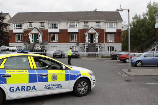 The scene at Sandfield Mews in Ennis where a 31-year-old man was stabbed to death