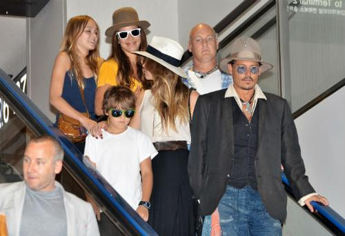 Johnny has two children with ex-partner Vanessa Paradis