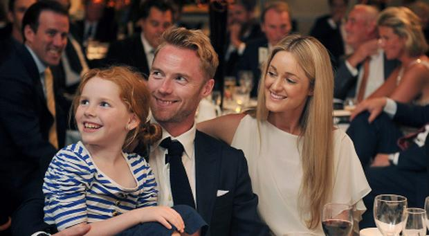 Ali Keating, Ronan Keating and Storm Uechtritz attend the Gary Player Invitational Europe 2013 Gala Dinner and Auction