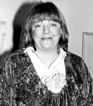 Maeve Binchy pictured in 1982