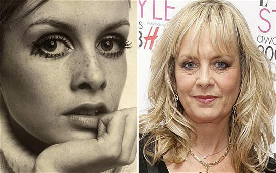 A portrait of Twiggy taken in 1967 (left) and whilst attending the ELLE Style Awards Photo: Ronald Traeger/PA