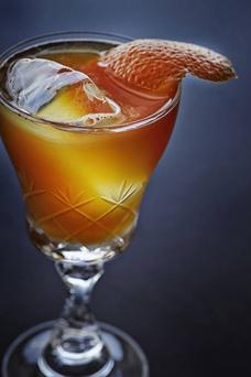 Gold Basque Punch is one of the cocktails created by bartender of the year David Rios