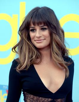 Lea Michele joined her Glee castmates to mourn her boyfriend Cory Monteith