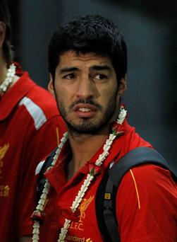 Liverpool's Luis Suarez in Thailand this week