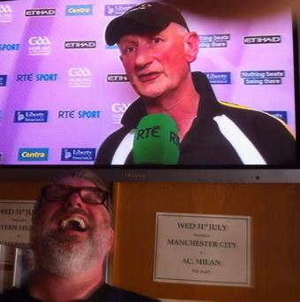 Top is sad Kilkenny man. Below is happy Tipperary man Pic: Pat Shortt/Twitter