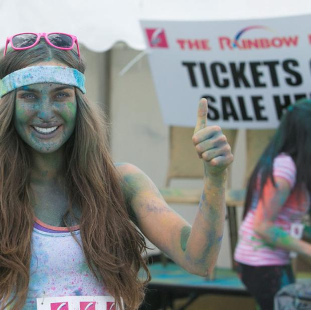 28/07/2013 Roz Purcell during a 5k Rainbow Run in Dun Laoghaire, Dublin. Photo: Gareth Chaney Collins