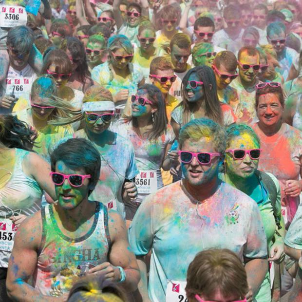 28/07/2013 Members of the public during a 5k Rainbow Run in Dun Laoghaire, Dublin. Photo: Gareth Chaney Collins