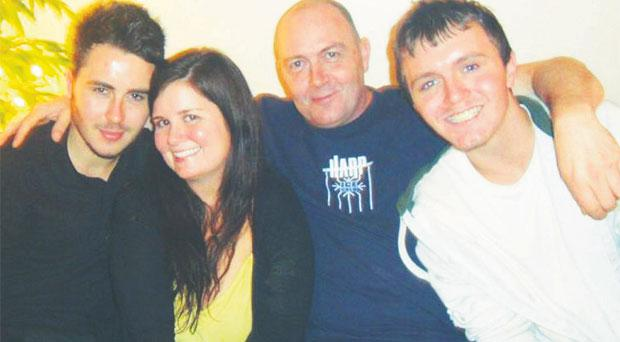 Courtney Hardy with her Belfast birth dad Emmanuel Cullen, and brothers Ryan and Tony Cullen