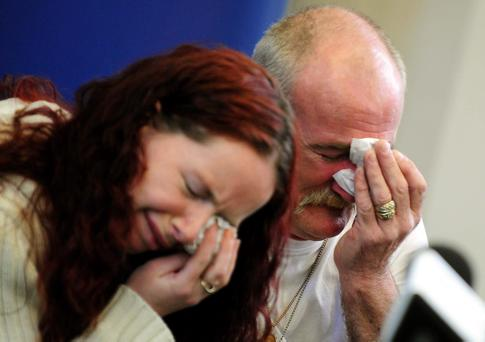 Mick Philpott and wife Mairead, who was jailed for 17 years for killing her six children in a Derby house fire